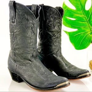 Durango Western Boot Slouch Black Leather Cowgirl